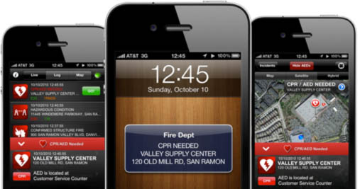 The app that saves lives: location-aware CPR/AED notification capability is a PulsePoint away