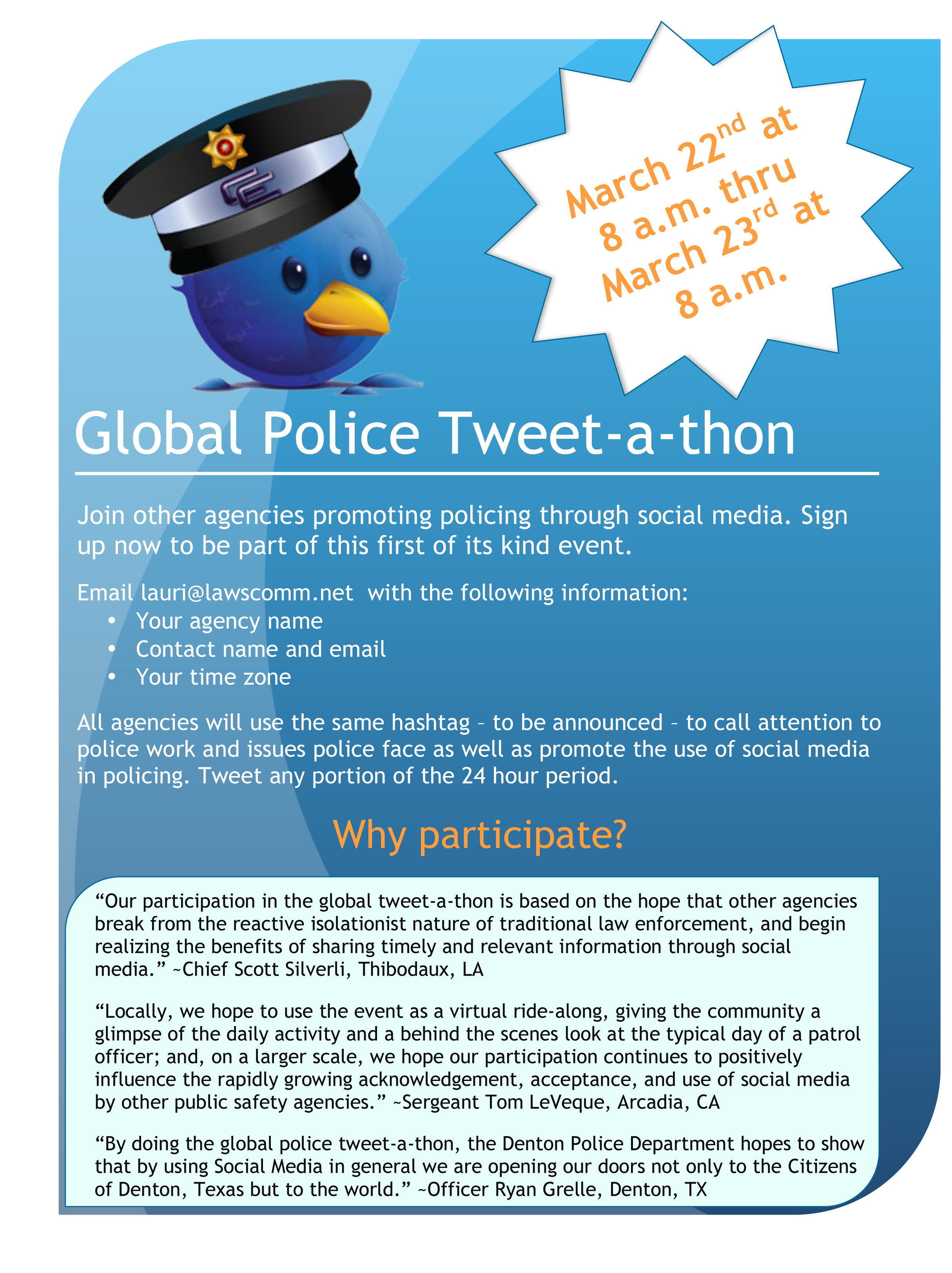 Global Police Tweet-a-thon