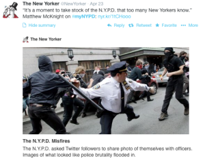 #myNYPD – not an altogether bad idea, just not fully baked